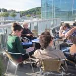 """Das Projektteam """"Freies Lernen in Salzburg"""" freut sich über eine erfolgreiche Namensfindung bei der Vereinsgründung. (Foto: Bauer)"""