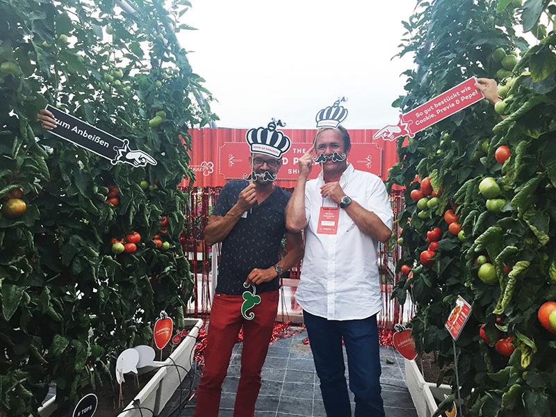 ORF Gartenexperte Karl Ploberger und Paradeiser König Hans Renner sind Tomatenfans